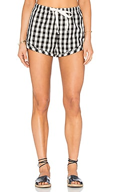 Solid & Striped The Draw cord Shorts in Black Gingham