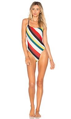 Фото - Слитный купальник the chelsea - Solid & Striped красного цвета