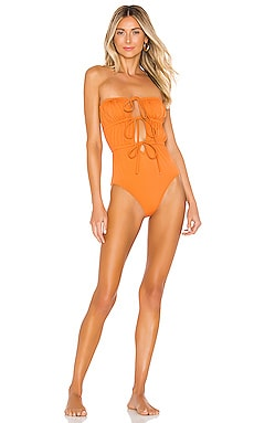 Paula One Piece Solid & Striped $76