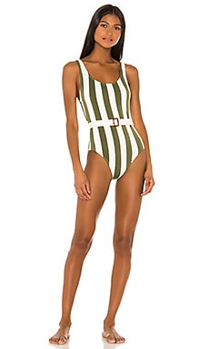 Anne Marie Belt One Piece Solid & Striped $178