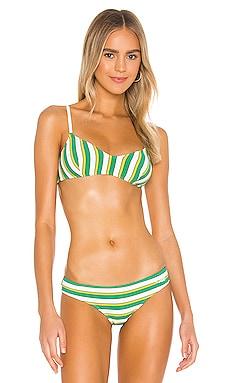 Cora Bikini Top Solid & Striped $84