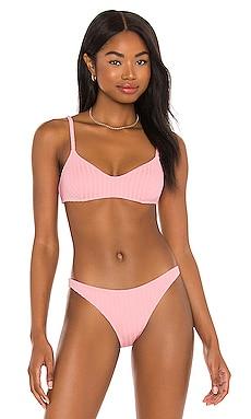 Rachel Bikini Top Solid & Striped $84