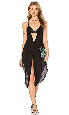 Salt Swimwear Pearl Dress Cover Up in Black