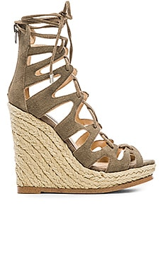 Theea Wedge in Taupe Suede