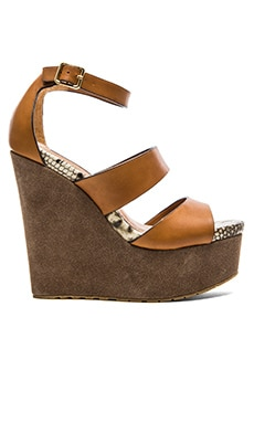 Steve Madden Calvi Wedge in Cognac Multi