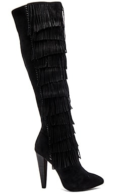 Steve Madden Maraka Boot in Black Suede