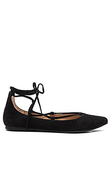 Eleanorr Ballet Flat in Black Suede