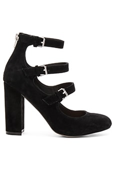 Veruca Heel in Black Suede