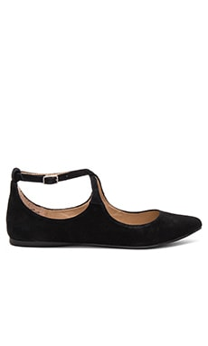 Elise Flat in Black Suede