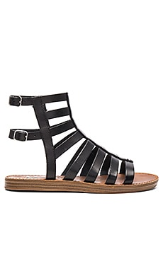 Beastt Sandal in Black Leather
