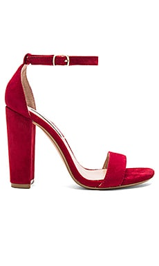 Carrson Heel in Dark Red Suede