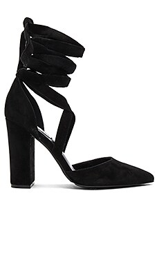 Bryony Heel in Black Suede