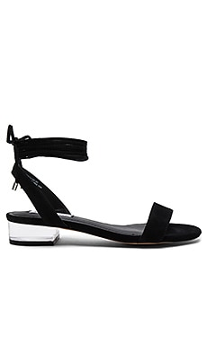 Carolynn Sandal in Black Suede