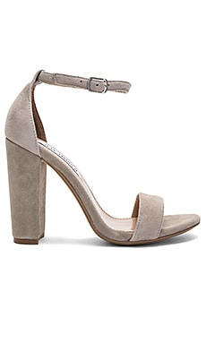 Carrson Heel in Taupe Suede