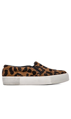 The Blonde Salad x Steve Madden NYC Flat with pony hair in Leopard Pony