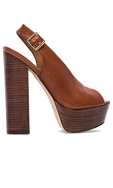Steve Madden Skinny Platform in Brown Leather