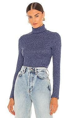 Ribbed Knit Turtleneck Sweater Smythe $195