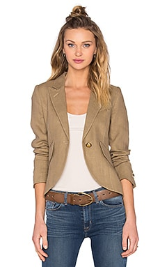 One Button Blazer in Burlap
