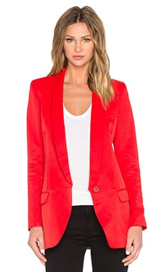 Long Shawl Blazer in Red