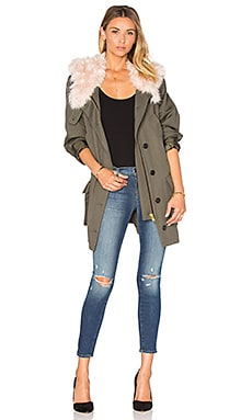 Anorak Jacket in Army & Blush