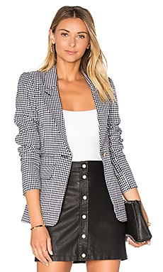 Patch Pocket Blazer en Carreaux Marine