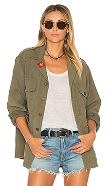 Army Shirt Jacket in Distressed Surplus