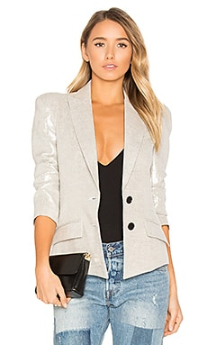 Pagoda Blazer in Metallic