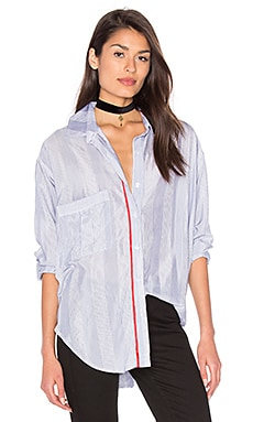 Twoforone Boyfriend Shirt in Shirting Stripe & Red