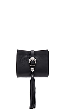 x Vanessa Mooney Buckle Clutch in Black