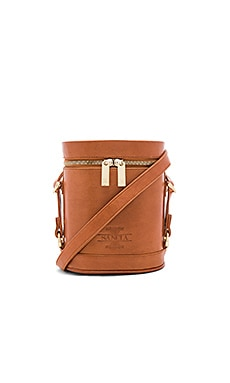 Luna Zipper Bag in Whiskey