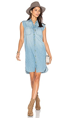Sleeveless Button Up Dress in Marble