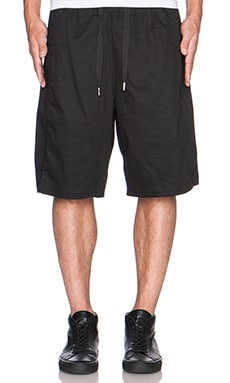 SKINGRAFT Cotton Satin Long Shorts in Black