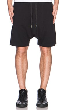 SKINGRAFT Drop Crotch Shorts in Black