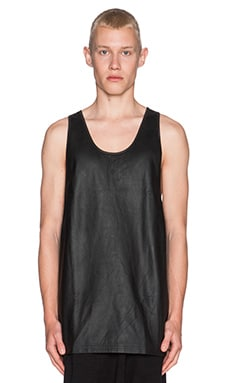 SKINGRAFT Leather Singlet in Black