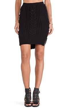 SKINGRAFT Knit Pencil Skirt in Black
