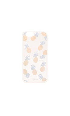 CAPA CLARA PARA IPHONE 6/6S RAINBOW PINEAPPLE