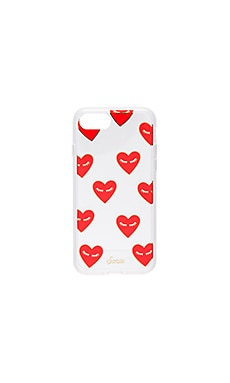 Fancy Heart iPhone 7 Case in Clear