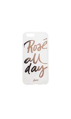 Clear Rose All Day iPhone 6 Case en Clear