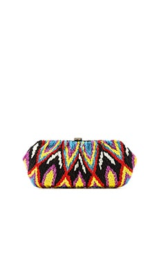 Santi Beaded Tribal Clutch in Multi