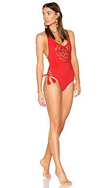 Sasha One Piece Swimsuit in Red