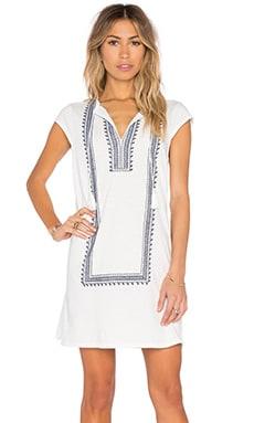 Soft Joie Yadon Embroidered Shift Dress in Porcelain