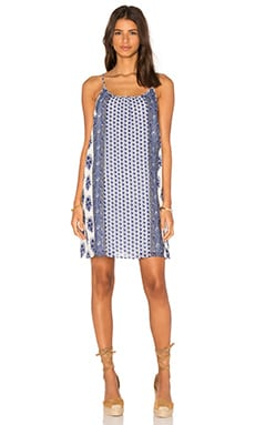 Jorell Dress en Porcelain & Atlantic Blue