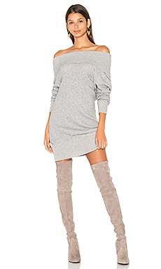 Lema Sweater Dress in Light Heather Grey & Heather Grey