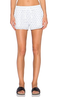 Soft Joie Eberson Short in Porcelain & Victoria Blue