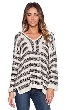 Soft Joie Markham Sweater in Ecru & Caviar