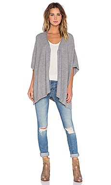 Soft Joie Zami Poncho in Heather Grey