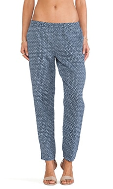 Soft Joie Kanako Pant in Indigo Blue & Dusty Blue