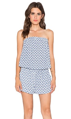 Soft Joie Gidget Romper in Porcelain & Peacoat