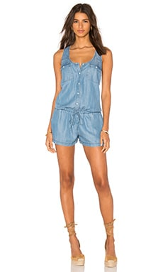 Mendra Romper in Vintage Chambray