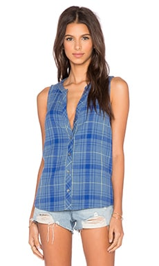 Soft Joie Bardon B Button Up Tank in Moonlight Blue